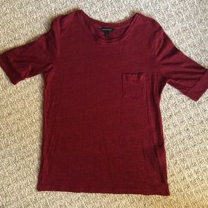 NWOT Banana Republic Linen Red T-Shirt
